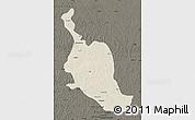 Shaded Relief Map of Kole, darken