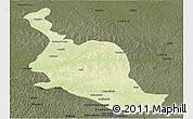Physical Panoramic Map of Kole, darken