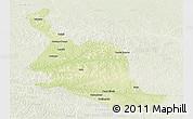 Physical Panoramic Map of Kole, lighten