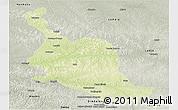 Physical Panoramic Map of Kole, semi-desaturated