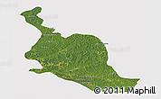 Satellite Panoramic Map of Kole, cropped outside