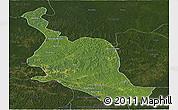 Satellite Panoramic Map of Kole, darken