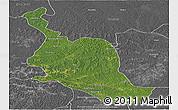 Satellite Panoramic Map of Kole, desaturated