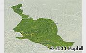 Satellite Panoramic Map of Kole, lighten