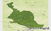 Satellite Panoramic Map of Kole, physical outside