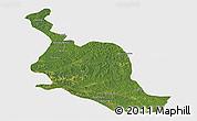 Satellite Panoramic Map of Kole, single color outside