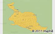 Savanna Style Panoramic Map of Kole, single color outside
