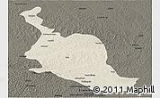 Shaded Relief Panoramic Map of Kole, darken