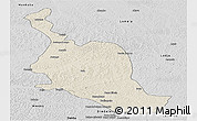 Shaded Relief Panoramic Map of Kole, desaturated