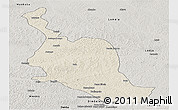 Shaded Relief Panoramic Map of Kole, semi-desaturated