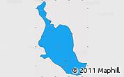 Political Simple Map of Kole, cropped outside