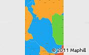 Political Simple Map of Kole