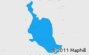 Political Simple Map of Kole, single color outside