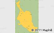 Savanna Style Simple Map of Kole, single color outside
