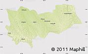 Physical Map of Lomela, cropped outside