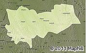 Physical Map of Lomela, darken