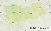 Physical Map of Lomela, lighten