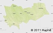 Physical Map of Lomela, single color outside