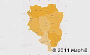 Political Shades Map of Sankuru, cropped outside