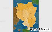 Political Shades Map of Sankuru, darken
