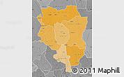 Political Shades Map of Sankuru, desaturated