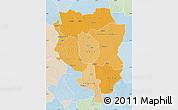 Political Shades Map of Sankuru, lighten
