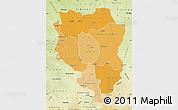 Political Shades Map of Sankuru, physical outside