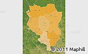 Political Shades Map of Sankuru, satellite outside