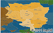 Political Shades Panoramic Map of Sankuru, darken