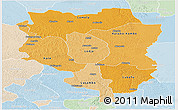 Political Shades Panoramic Map of Sankuru, lighten