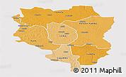 Political Shades Panoramic Map of Sankuru, single color outside