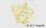 Physical Map of Tshilenge, cropped outside