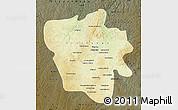 Physical Map of Tshilenge, darken