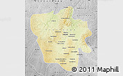 Physical Map of Tshilenge, desaturated
