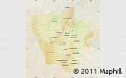 Physical Map of Tshilenge, lighten