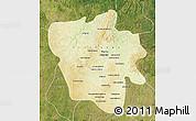 Physical Map of Tshilenge, satellite outside