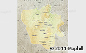 Physical Map of Tshilenge, semi-desaturated
