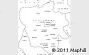 Blank Simple Map of Tshilenge