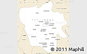 Classic Style Simple Map of Tshilenge
