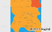 Political Simple Map of Tshilenge
