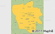 Savanna Style Simple Map of Tshilenge