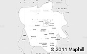 Silver Style Simple Map of Tshilenge
