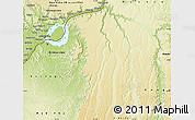 Physical Map of Kinshasa Rural