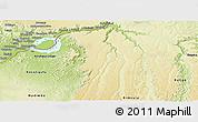 Physical Panoramic Map of Kinshasa Rural