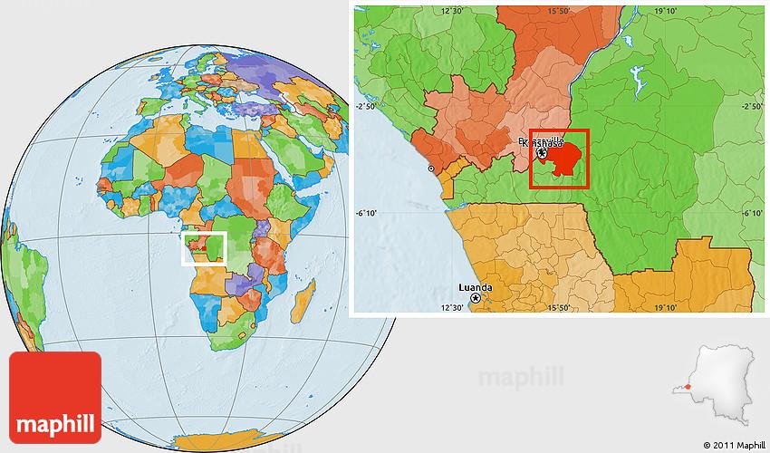 Political Location Map of Kinshasa on abidjan map, brazzaville map, dar es salaam, mogadishu map, timbuktu map, kigali map, cape town, africa map, nairobi map, cape town map, praia map, cairo map, yaounde map, congo river, freetown map, luanda map, leopoldville map, kuala lumpur map, maputo map, malabo map, congo map, addis ababa, kampala map, lagos map,