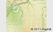 Physical Map of Kinshasa