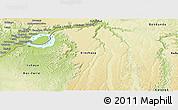 Physical Panoramic Map of Kinshasa