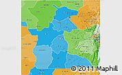Political Shades 3D Map of Maniema