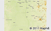 Physical 3D Map of Kindu