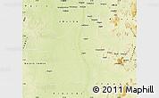 Physical Map of Kindu